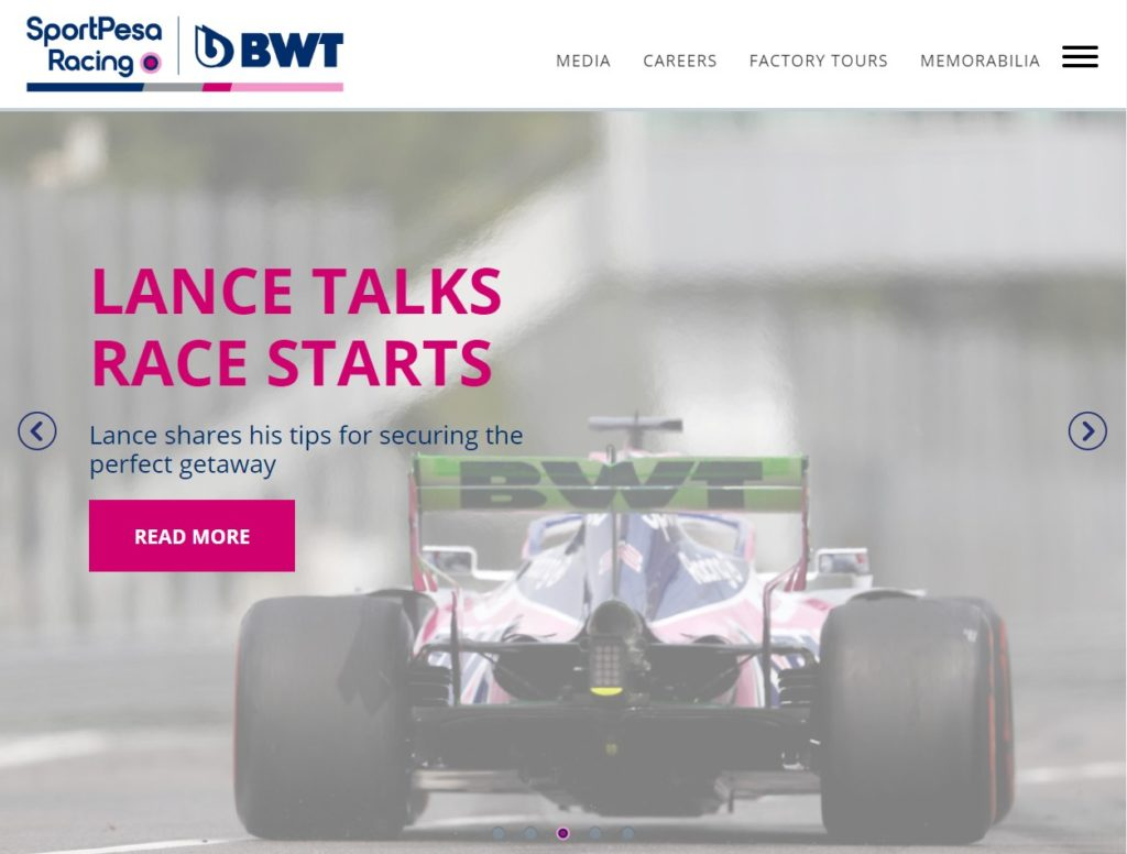 RacingPoint F1 WEB